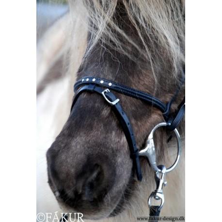 Nordic Horse engl. komb. Reithalfter elegant mit 5 Steinen