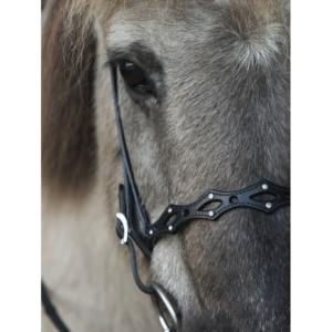 Nordic Horse engl. Reithalfter 5 Schlitze, Spitzen mit Steinen