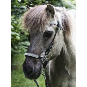 Nordic Horse Hackamore Glitzer weiß (mehrere Strassreihen)