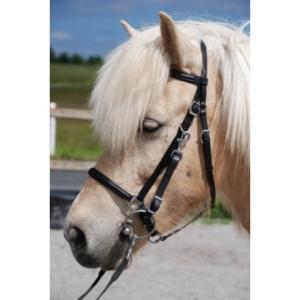 Nordic Horse Wanderreithalfter Leder schwarz