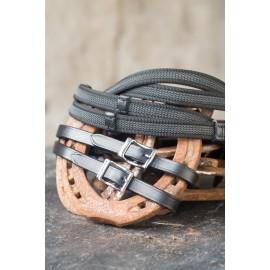 Nordic Horse Gurtzügel schwarz mit Stegen mit und Schnalle